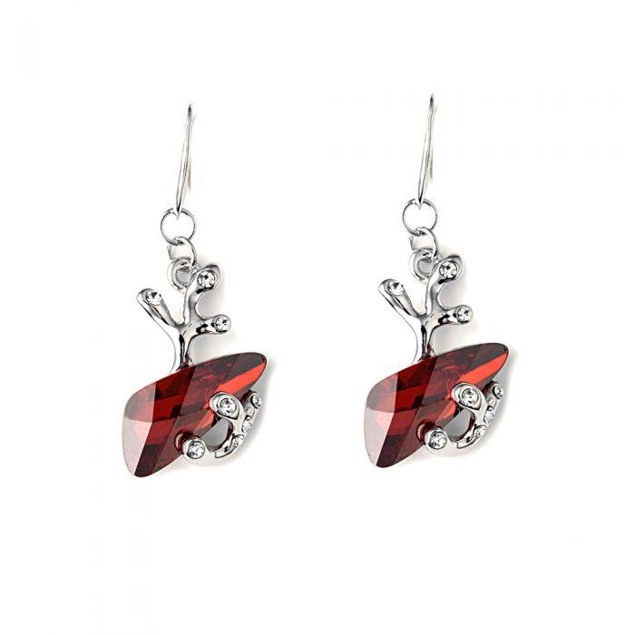 Image for Red swarovski crystal earrings