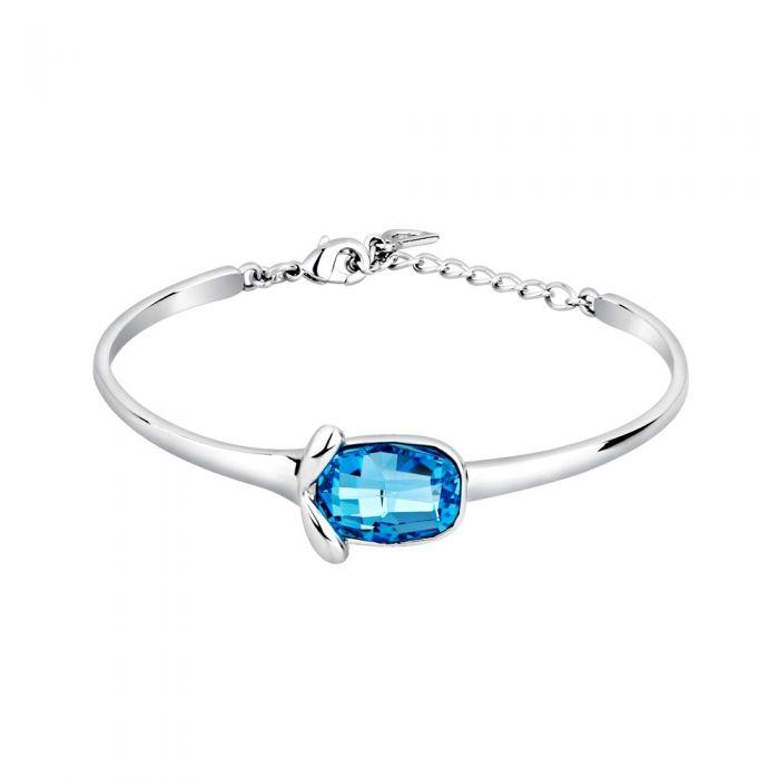 Image for Blue Swarovski crystals bangle bracelet