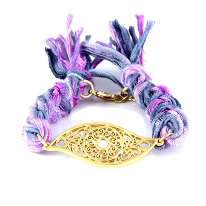 Image for Ettika - Purple Ribbons and Yellow Gold Eye Bracelet