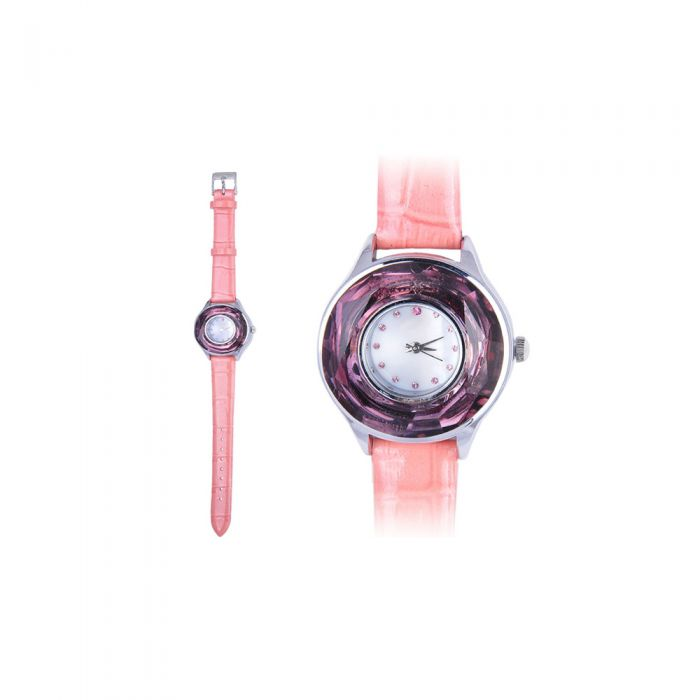 Image for Pink Swarovski Elements Crystal Watch