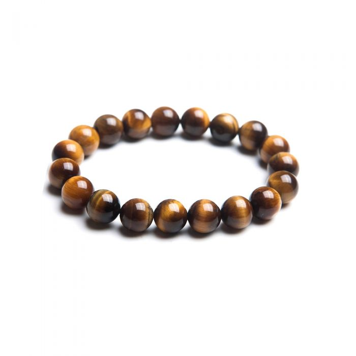 Image for Brown tiger eye pearl stretch bracelet