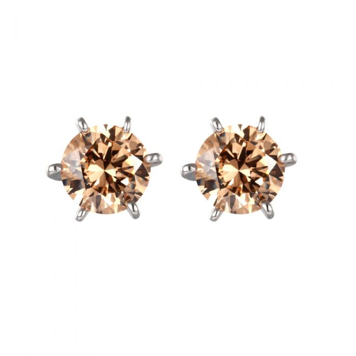Image for Champagne Swarovski crystals earrings