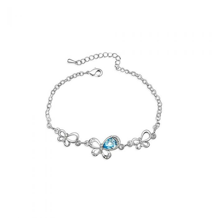 Image for Swarovski - Blue Swarovski Crystal Element Butterfly Bracelet