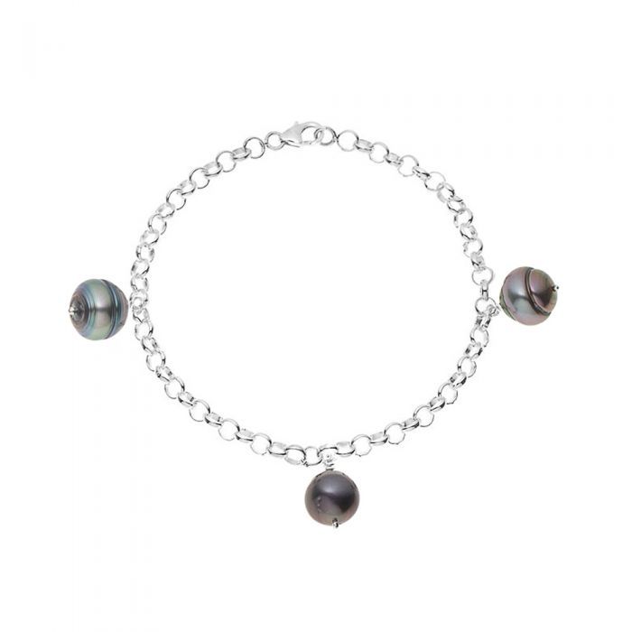 Image for 3 Tahitian Pearl Bracelet and 925 Sterling Silver
