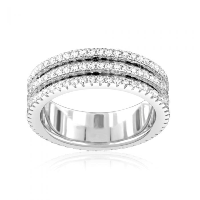 Image for White Swarovskicrystals and sterling silver ring
