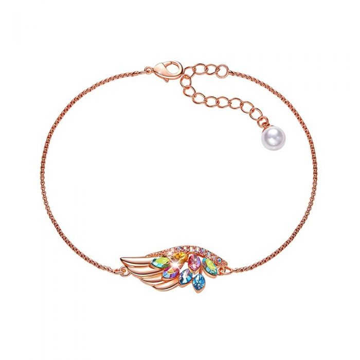 Image for Multi-coloured Swarovski crystals wing bracelet
