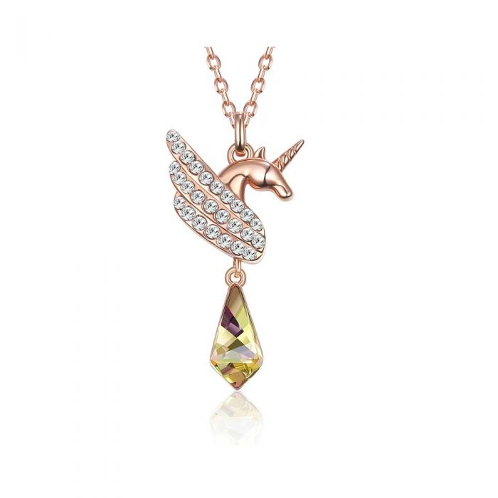 Image for Unicorn Womans Necklace with White Swarovski Crystal