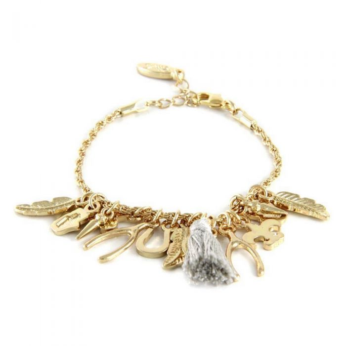 Image for Ettika - Cotton Grey, Charm Bracelet and Yellow Gold Plated