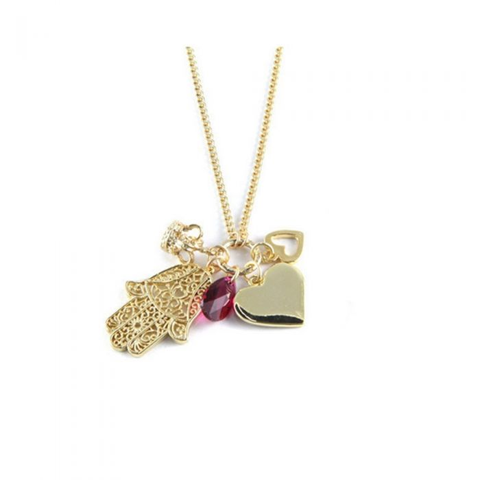 Image for Ettika - Love Charm Choker Necklace Crystal and Yellow Gold