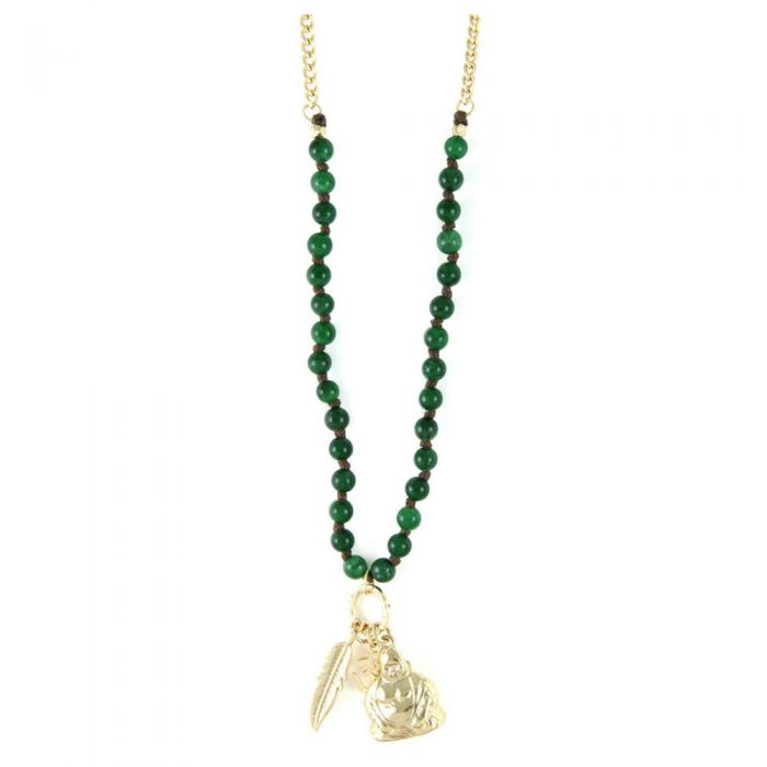 Image for Ettika - Brave Charm Choker Necklace Jade and Yellow Gold