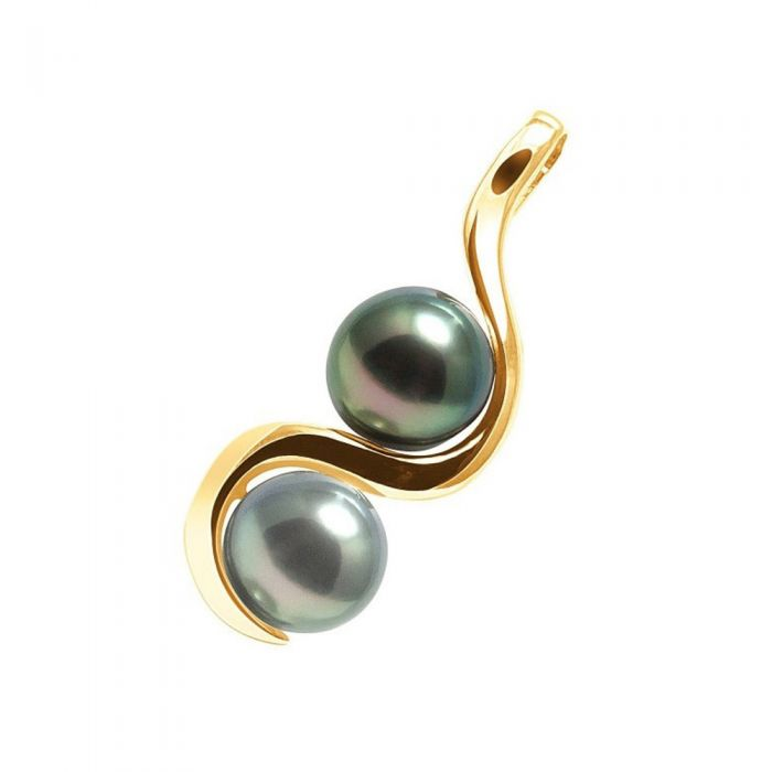 Image for Black Tahitian Pearls Pendant and Yellow Gold 375/1000