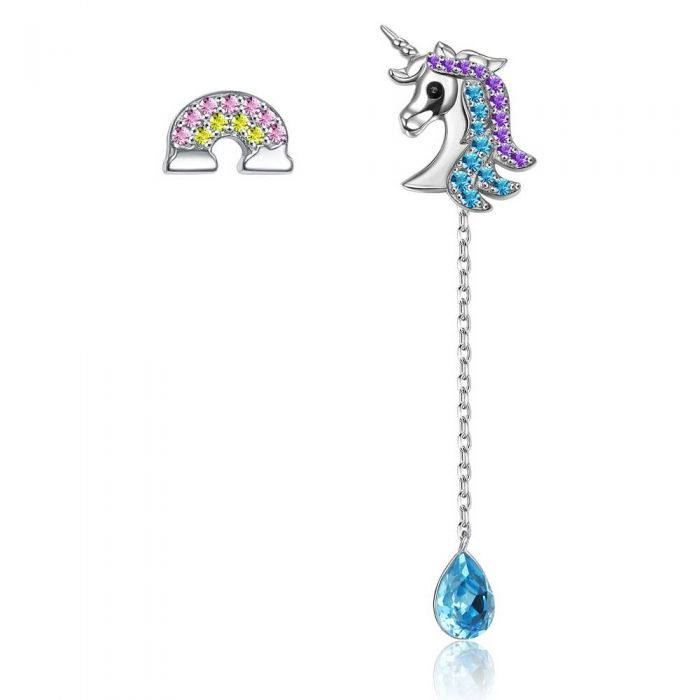 Image for Swarovski - Women's Pendants Earrings Unicorn Crystal Blue Swarovski