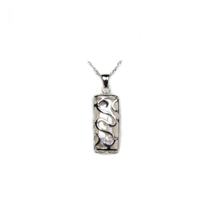 Image for Mother-of-pearl and  silver pendant