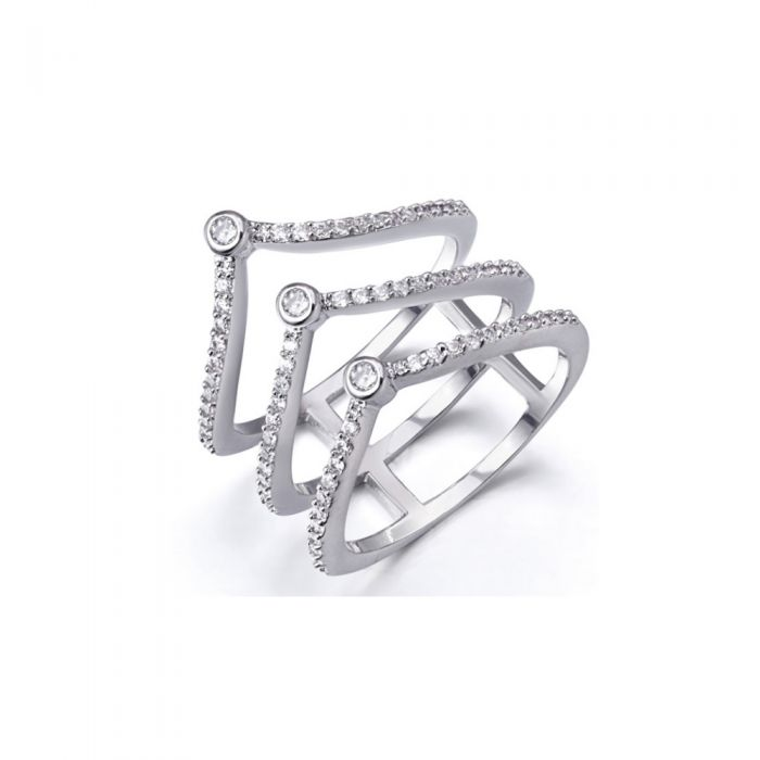 Image for White Swarovski crystals ring