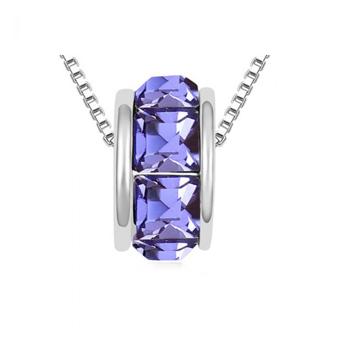 Image for Swarovski - Purple Swarovski Elements Crystal Ring Necklace