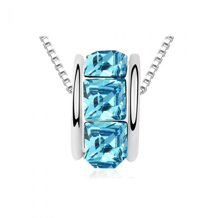 Image for Swarovski - Blue Swarovski Elements Crystal Ring Necklace