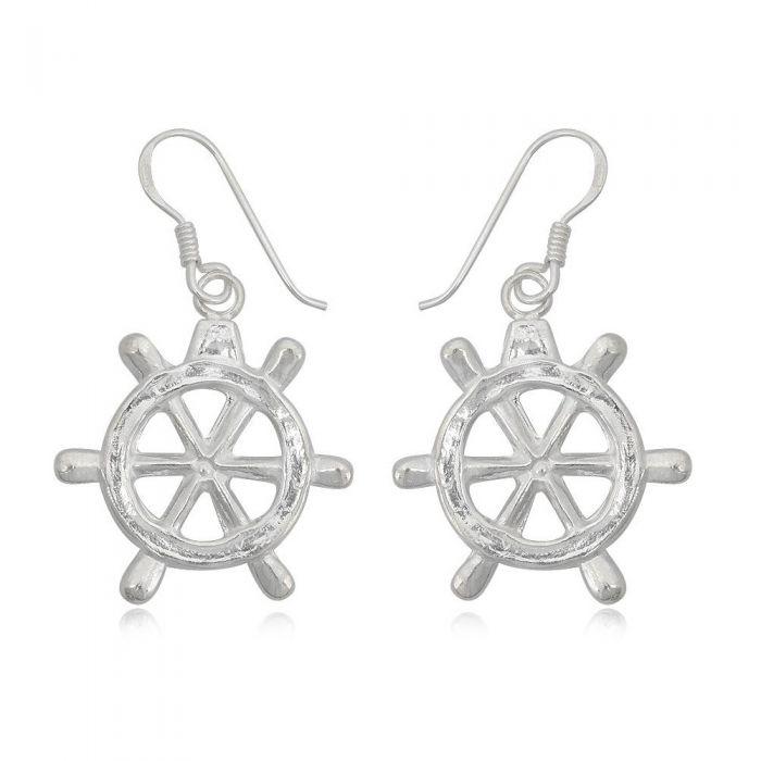 Image for 925 Silver Rudder Dangling Earrings