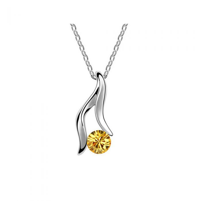 Image for Yellow Swarovski crystals pendant