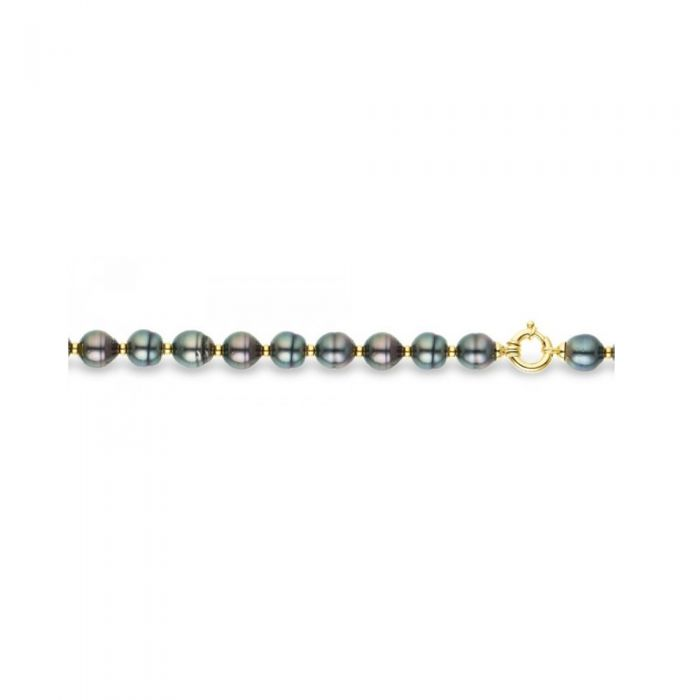 Image for Black Circled Tahitian Pearls Bracelet and Yellow Gold 375/1000