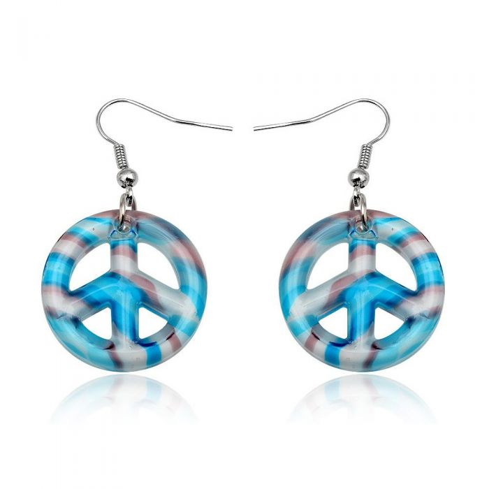 Image for Blue Murano Glass Peace Earrings