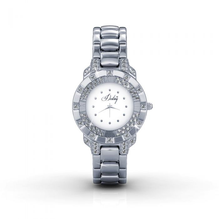 Image for White Stainless Steel Watch with Swarovski Elements Crystals
