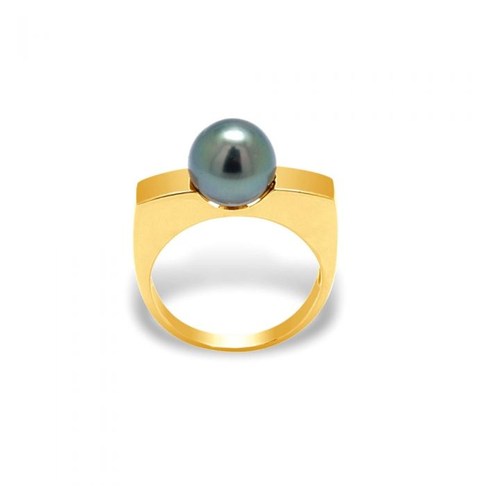 Image for Black tahitian pearl ring