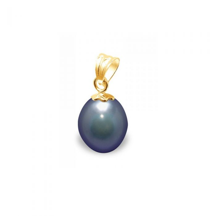 Image for Black Freshwater Pearl Pendant and Yellow Gold 750/1000