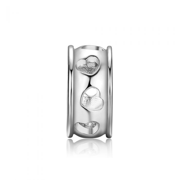 Image for Hearts Charms Beads Stainless Steel