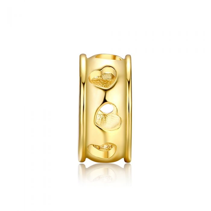 Image for Hearts Charms Beads Yellow Gold Stainless Steel