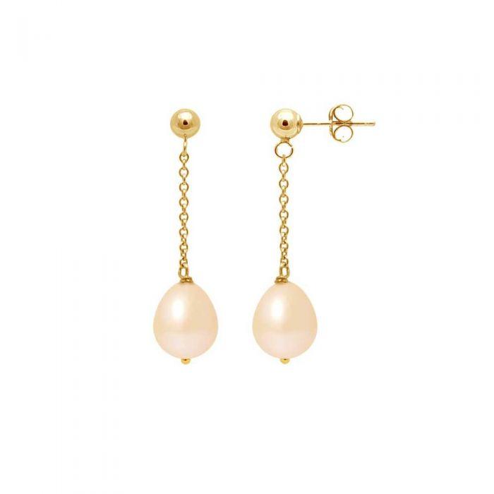 Image for Pink freshwater pearl drop earrings