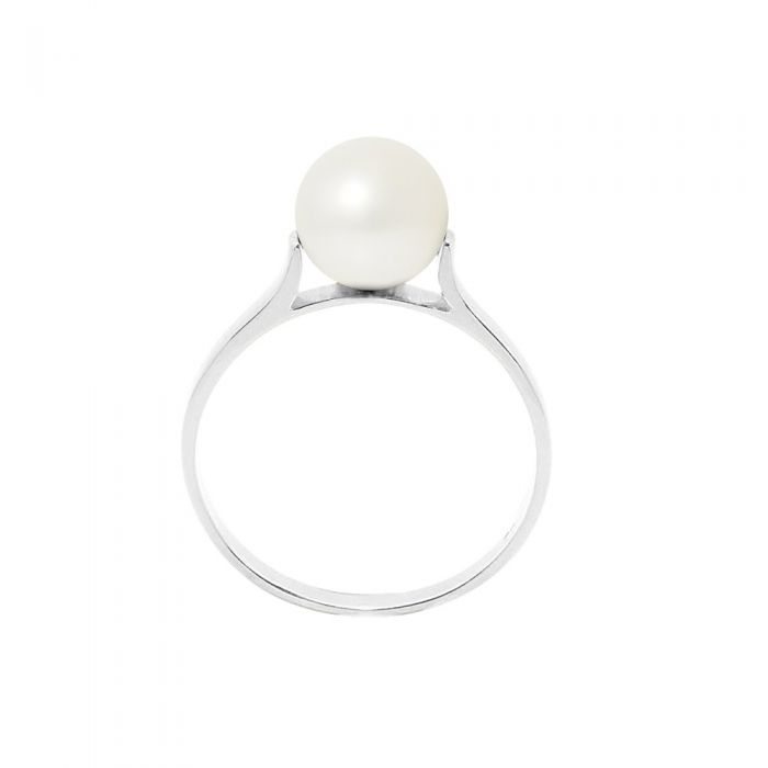 Image for 8mm White freshwater pearl ring