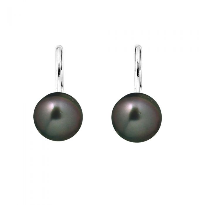 Image for Black Tahitian Pearl Earrings and Silver 925/1000