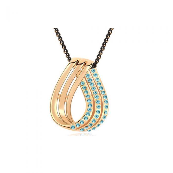 Image for Blue Swarovski crystals pendant
