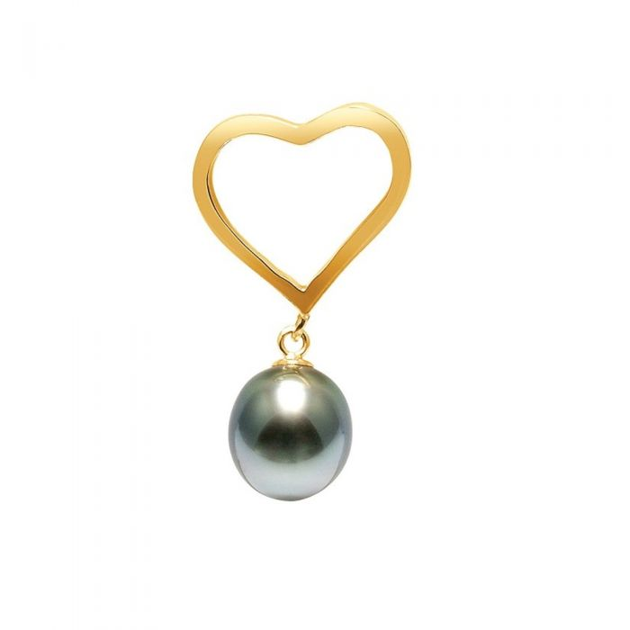 Image for White Tahitian Pearl Heart Pendant and Yellow Gold 750/1000