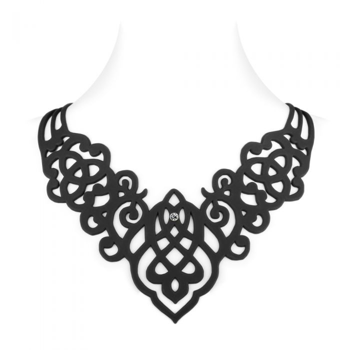 Image for Black Silicone Gum Arabesque Necklace Effect Tatto