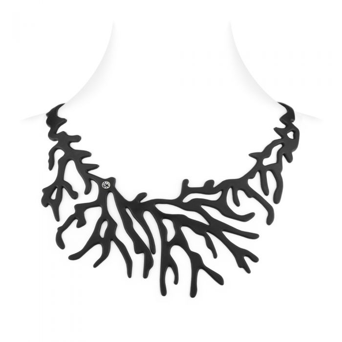 Image for Black Silicone Gum Coral Necklace Effect Tatto