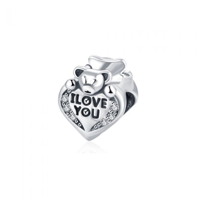 Image for I Love You, Heart and Bear Beads