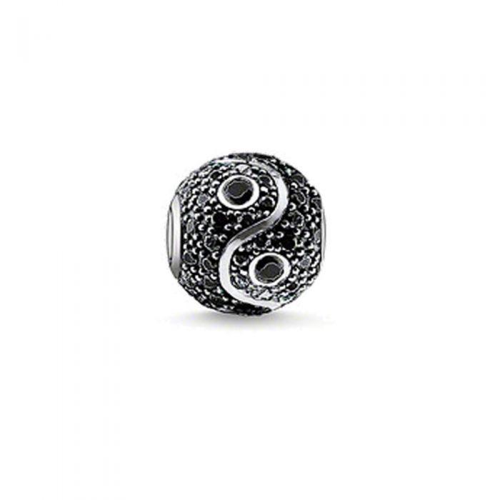 Image for Black Crystal Yin Yang Beads
