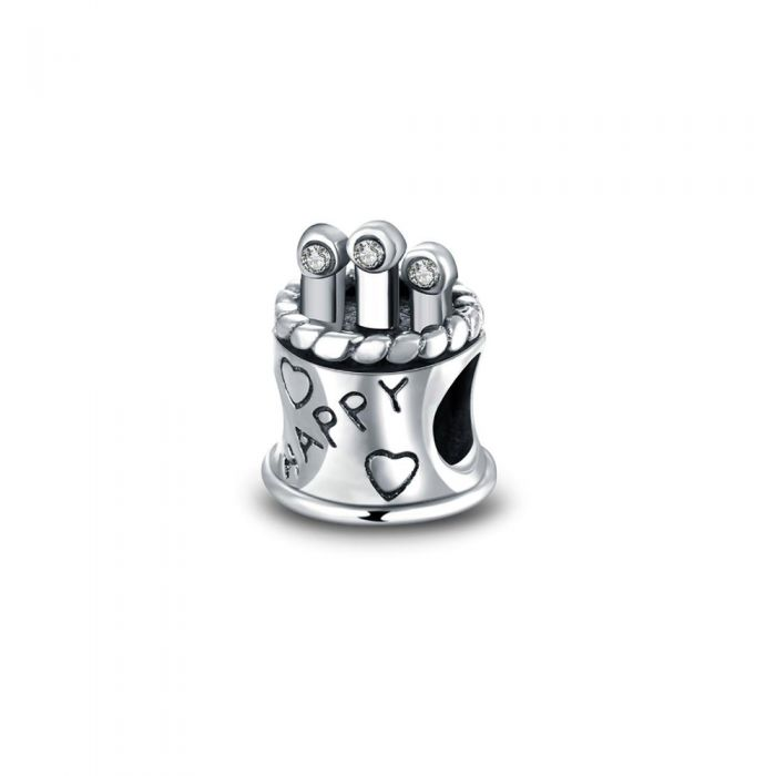Image for 925 Silver Birthday Cake Charms Bead