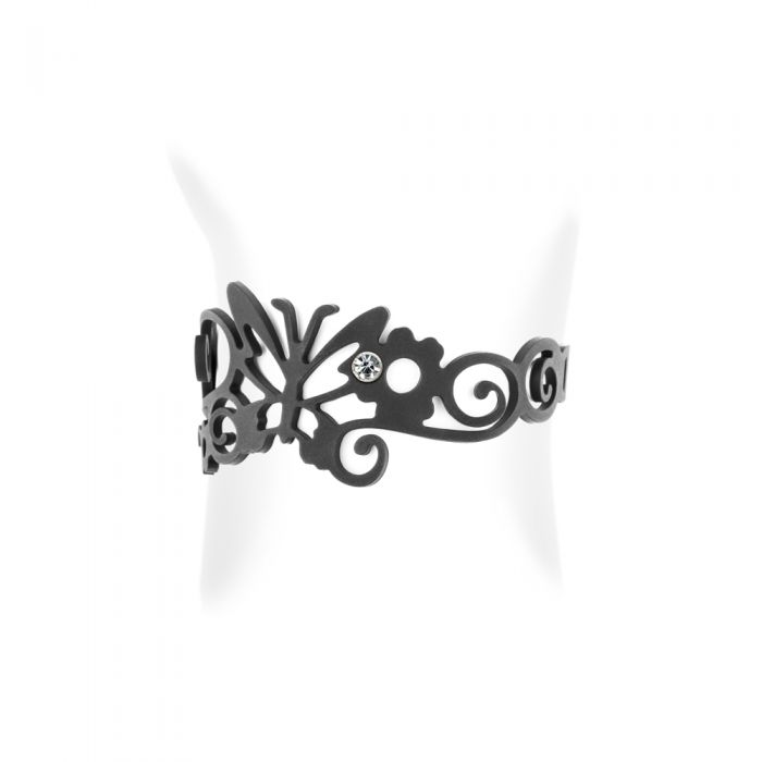 Image for Butterfly Child Black Silicone Gum Bracelet