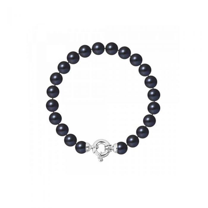 Image for 8-9 mm Black Freshwater Pearl Bracelet and 750/1000 White Gold Clasp