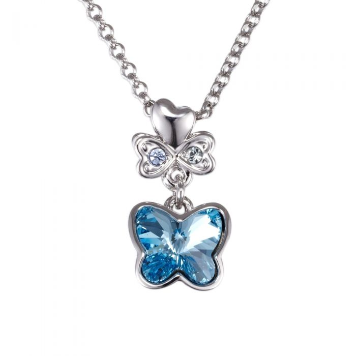 Image for Swarovski - Blue Swarovski Crystal Element Butterfly Pendant