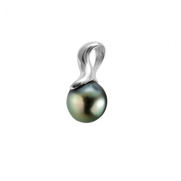 Image for Black Tahitian Pearl Pendant and Sterling Silver 925/1000