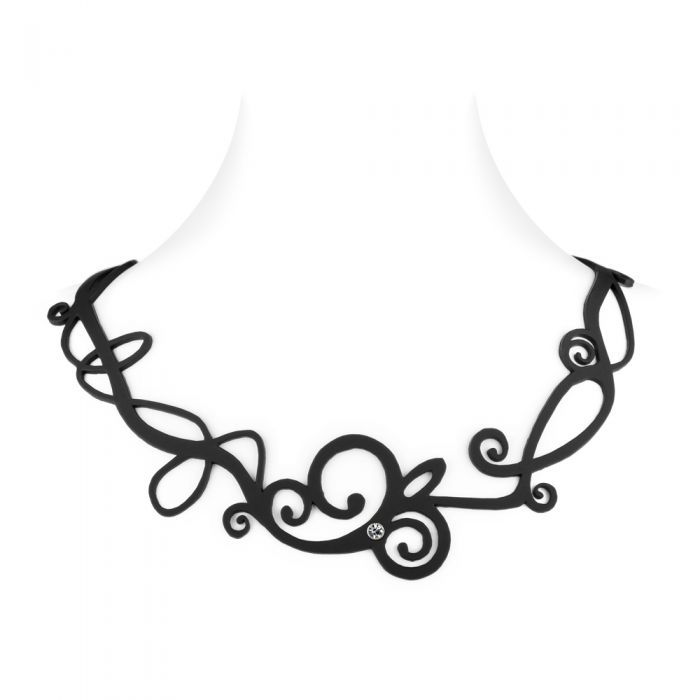 Image for Black Silicone Gum Waves Necklace Effect Tatto