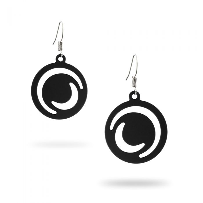 Image for Black Silicone Gum Moonlight Dangling Earrings