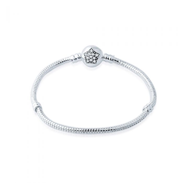 Image for Stainless Steel Star Bracelet for Beads and Charms - 17 cm
