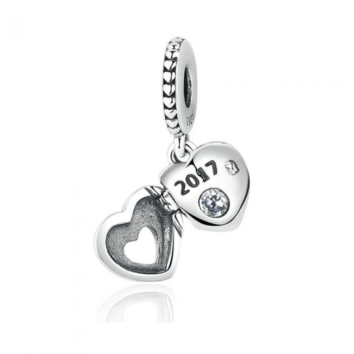 Image for 925 Silver Mother Heart Pendant Charms Bead925 Silver Heart Pendant Charms Bead