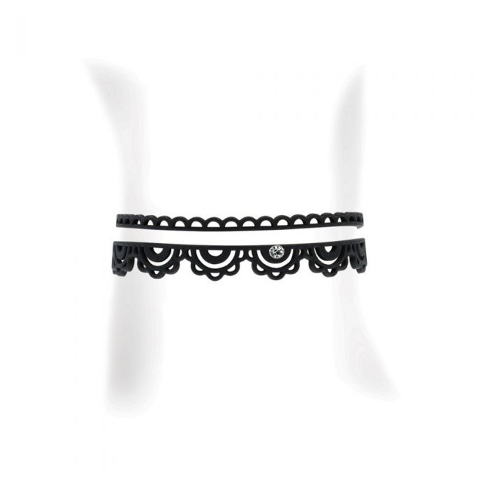 Image for Black Silicone Gum Anklet Jewel Effect Tatto
