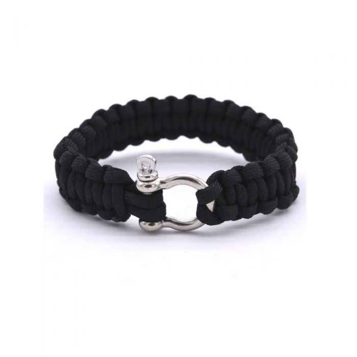 Image for Black rope Wire Survival Bracelet