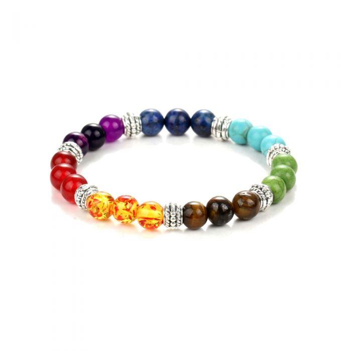 Image for Multicolor Natural Stones Stretch Bracelet